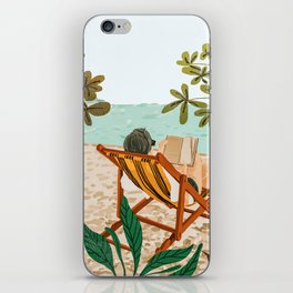 Vacay Book Club #illustration #tropical iPhone Skin