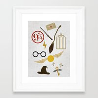 potter Framed Art Prints featuring Minimalist Potter by Luis Urrutia