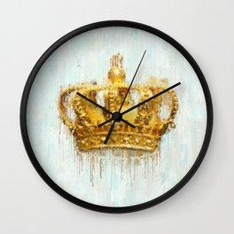 Painted Crown Wall Clock