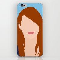 emma stone iPhone & iPod Skins featuring Emma Stone Digital Portrait by RoarsAdams