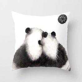 Pandamie Panda Couple Throw Pillow