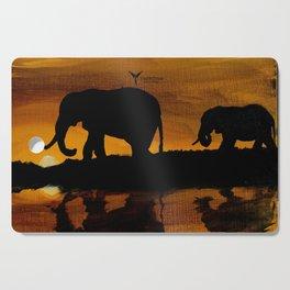 Elephant Sunset Cutting Board