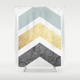 Golden figure IX Shower Curtain