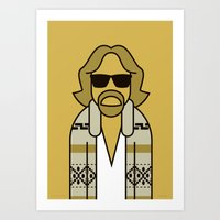 the dude Art Prints featuring Dude by Ale Giorgini