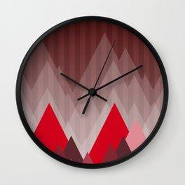 Triangular Mountain Range Wall Clock