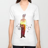 soldier V-neck T-shirts featuring Soldier by CAtsNDresses