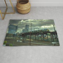 Philadelphia Skyline Freight Rug