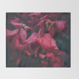 PINK - FLOWERS - FLORAL - PHOTOGRAPHY Throw Blanket