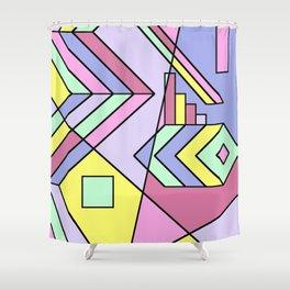 Pastel Geometry Shower Curtain