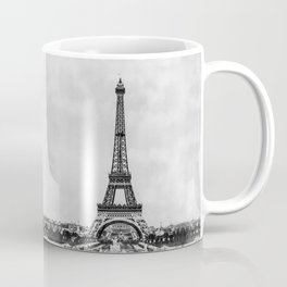 Eiffel tower, Paris France in black and white with painterly effect Coffee Mug