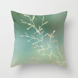 Morning grass Throw Pillow