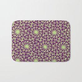geometric vintage purple/green Bath Mat