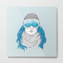 snowboarder girl Metal Print
