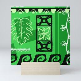 Hawaiian Pattern #1 - green! Mini Art Print