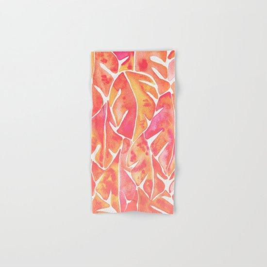 Split Leaf Philodendron – Melon Palette Hand & Bath Towel