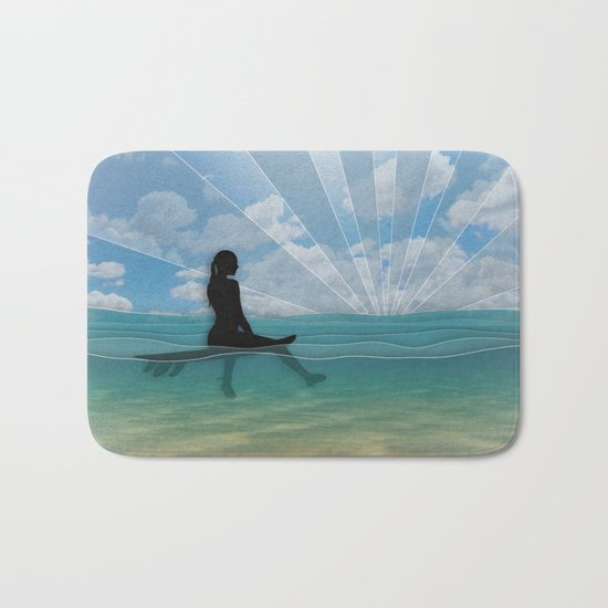View from a Surfboard Bath Mat