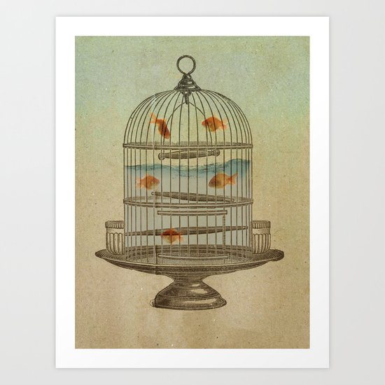 flying fish Art Print