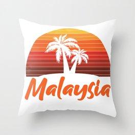 Sunset In Malaysia Throw Pillow