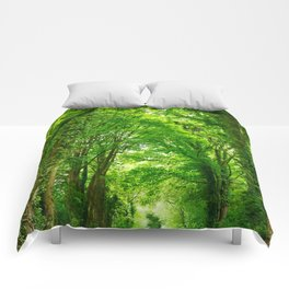 Tunnel Of Trees Comforters