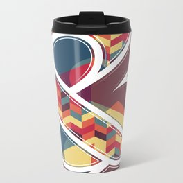 Chevron Ampersand Metal Travel Mug