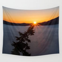 Sunset Tree Top Wall Tapestry