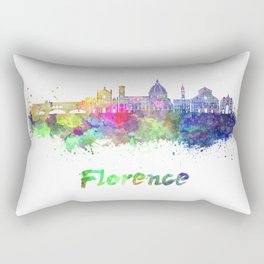 Florence V2 skyline in watercolor Rectangular Pillow
