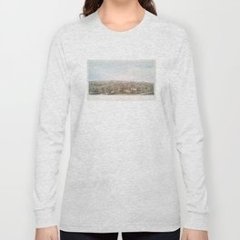 Vintage Pictorial Map of Springfield MA (1851) Long Sleeve T-shirt