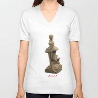ballerina V-neck T-shirts featuring ballerina by Francesco Mestria