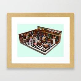 1950's Record Store Framed Art Print