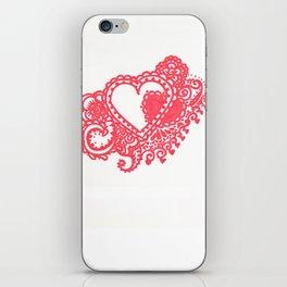53. Henna Heart with Hidden Love iPhone Skin