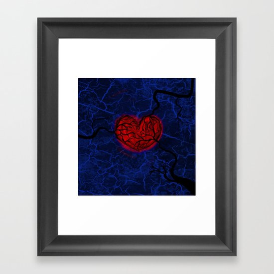 Overgrown Heart Framed Art Print
