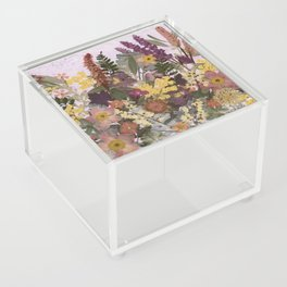 Pressed Flower English Garden Acrylic Box