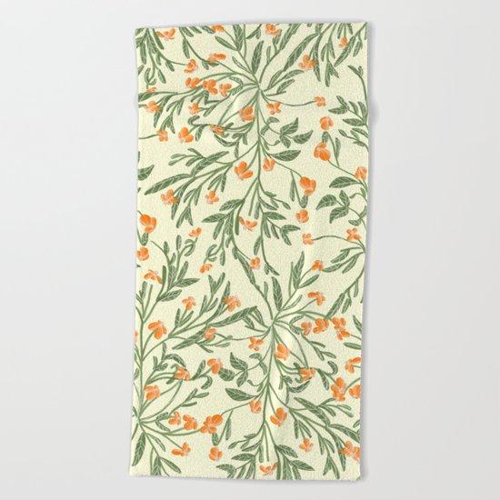 Wonder Garden Pattern Beach Towel