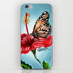 Butterfly on flower 2 iPhone & iPod Skin