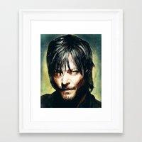 daryl dixon Framed Art Prints featuring Daryl Dixon by p1xer