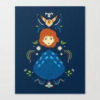 nausicaa Canvas Prints featuring Wind Valley by Ashley Hay
