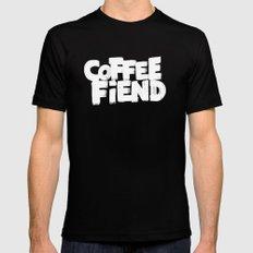 COFFEE FIEND MEDIUM Black Mens Fitted Tee
