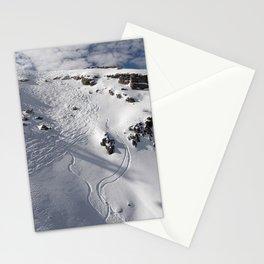 Ski Slopes Stationery Cards
