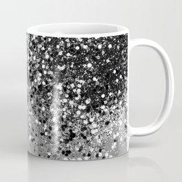 Sparkling Silver Gray Lady Glitter #1 #shiny #decor #art #society6 Coffee Mug