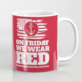 On Fridays We Wear Red Navy Coffee Mug