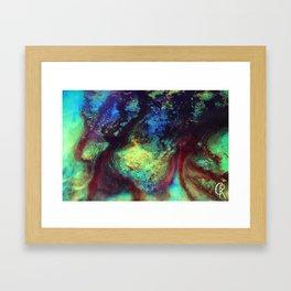 Titan Abstract Artwork, Contemporary Artist Design, Close Up Photograph, Bright Color Abstract Art Framed Art Print