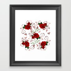 Enchanted Red Rose Abstract Framed Art Print