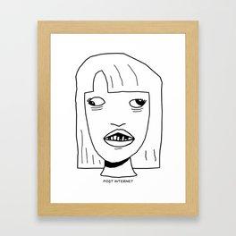 Post-Internet Framed Art Print