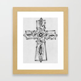 Stone Celtic Cross Framed Art Print