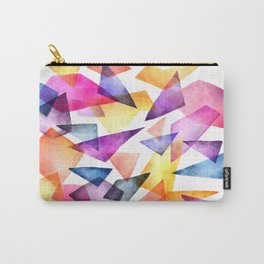 Textured Triangles Carry-All Pouch