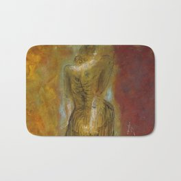 woman【Japanese painting】 Bath Mat