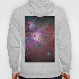 Galaxy, Nebula Mist, Crimson Red Hoody