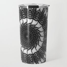 Gray Kaleidoscope Art 14 Travel Mug