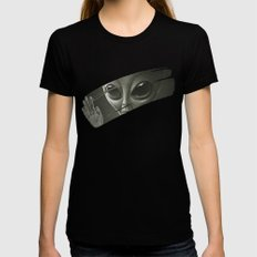 Alien LARGE Womens Fitted Tee Black