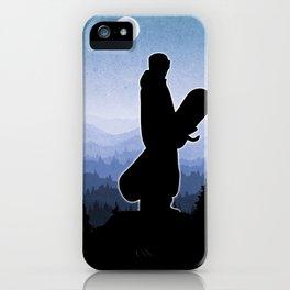 Snowboard Skyline Stand iPhone Case